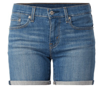 Mid Length Short - Stone Washed Jeansshorts mit Stretch-Anteil