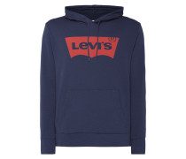 Graphic Pullover Hoodie Dress Blues