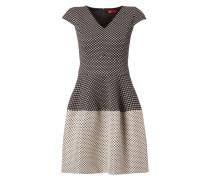 Kleid mit Jacquard und Effektgarn