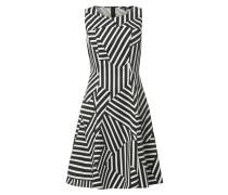 Kleid mit wechselndem Streifenmuster
