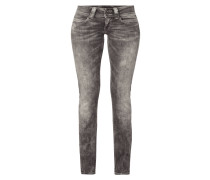 Acid Washed Straight Fit Jeans