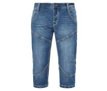 Jeansbermudas mit Kontrastnähten