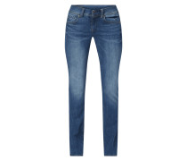 Bootcut Jeans mit Label-Patch