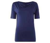 T-Shirt mit Wasserfallausschnitt und 1/2-Arm