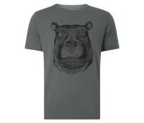 T-Shirt mit Nilpferd-Print