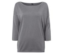 Pullover mit eingearbeitetem Effektgarn