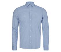 Body Fit Business-Hemd mit feinem Gittermuster