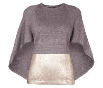 Pullover mit Effektgarn und Details in Metallicoptik
