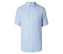 Modern Fit Leinenhemd mit kurzem Arm