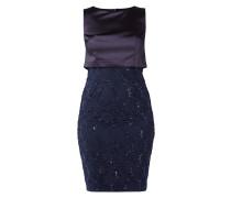 Two-Tone-Kleid mit Pailletten-Besatz