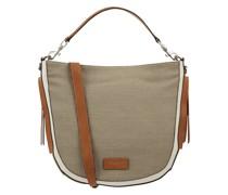 Hobo Bag aus Leder und Textil Modell 'Iris'