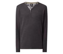 Serafino-Shirt aus Baumwollmischung
