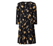 Kleid aus Viskose mit floralem Muster Modell 'Glyda'