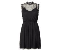 Kleid aus Mesh mit strukturierten Punkten