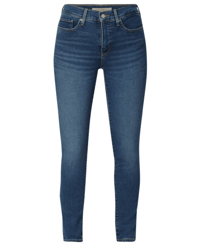 Shaping Skinny Fit Jeans mit Label-Patch
