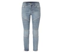 Skinny Fit Jeans im Biker-Look