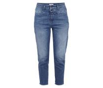 Stone Washed Jeans mit ausgefransten Abschlüssen