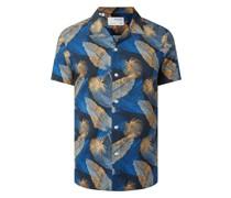 Regular Fit Freizeithemd aus Baumwoll-Viskose-Mix Modell 'Joel'