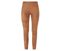 Leggings in Velourslederoptik