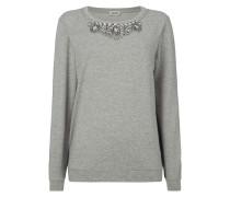 Sweatshirt mit Ziersteinbesatz