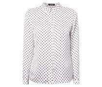 Hemdbluse mit Polka Dots