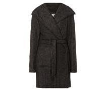 Mantel mit Kapuze und Taillengürtel
