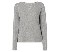 Boxy Fit Sweatshirt in Melangeoptik