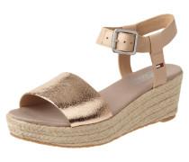 Sandalette mit Riemen in Metallicoptik
