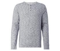 Serafino-Shirt in Melangeoptik