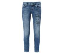 Skinny Fit Jeans mit Message-Print