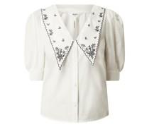 Bluse mit Bubikragen Modell 'Nida'