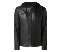 Lederjacke im Washed-Out-Look Modell 'Steady'