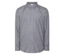 Regular Fit Flanellhemd aus Baumwolle