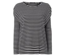 Boxy Fit Shirt mit Streifenmuster