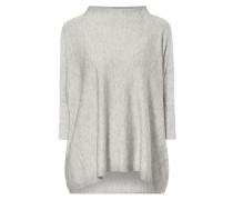Oversized Pullover mit Effektgarn