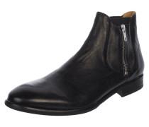 Chelsea Boots aus Leder mit Reißverschlüssen