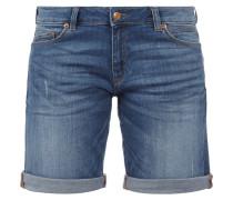 Stone Washed 5-Pocket-Jeansshorts