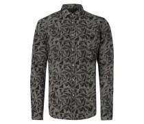 Slim Fit Hemd mit grafischem Allover-Print