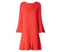 Kleid mit Volant-Besatz