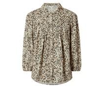 Bluse mit Allover-Muster Modell 'Hessa'