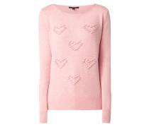 Pullover mit strukturiertem Herzmuster