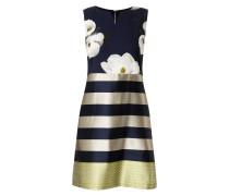 Kleid mit Blumen-Prints und Streifenmuster