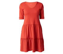 Kleid mit geripptem Oberteil