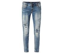 Girlfriend Fit Jeans im Destroyed Look