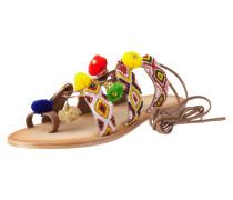 Sandalen mit Zierperlenbesatz