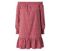 Minikleid mit Carmen-Ausschnitt Modell 'Crimson'