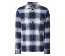 Regular Fit Freizeithemd aus Baumwollmischung