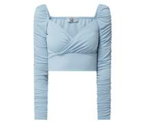 PAMELA x NA-KD REBORN Cropped Shirt mit Carmen-Ausschnitt