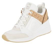 Sneaker Wedges aus Leder