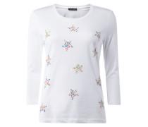 T-Shirt mit Sternen aus Ziersteinen